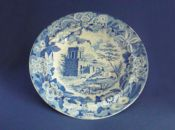 Marked Don Pottery 'Named Italian Views - Tomb of Theron at Aggrigentum' Pearlware Soup Plate c1820 #2